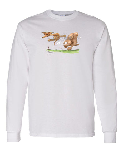 Italian Greyhound - Vintage - Caricature - Long Sleeve T-Shirt