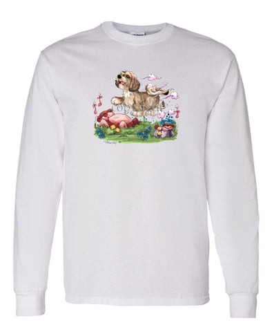 Lhasa Apso - Puppy - Caricature - Long Sleeve T-Shirt