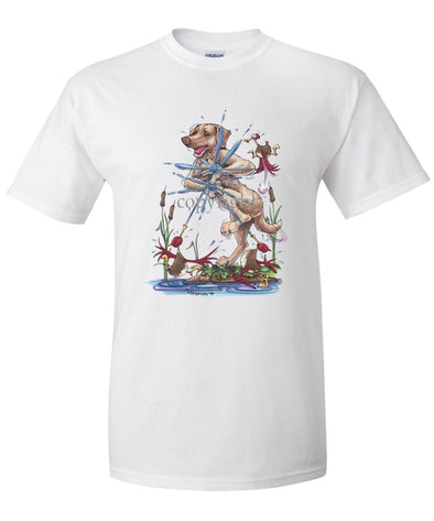 Chesapeake Bay Retriever - Ducks Squirting - Caricature - T-Shirt