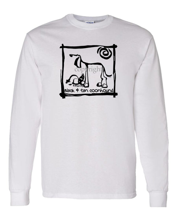 Black And Tan Coonhound - Cavern Canine - Long Sleeve T-Shirt