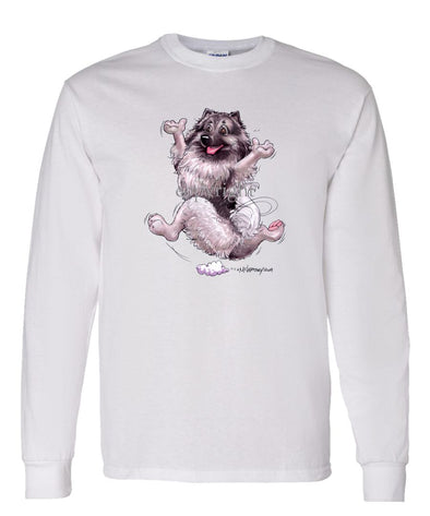 Keeshond - Happy Dog - Long Sleeve T-Shirt