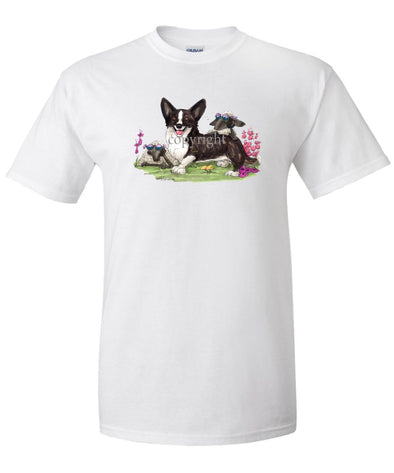 Welsh Corgi Cardigan - Sheep With Shades - Caricature - T-Shirt