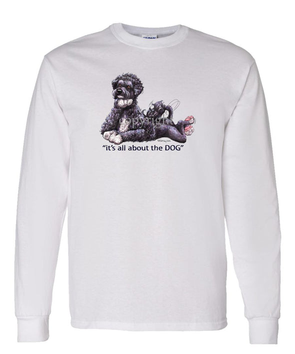 Portuguese Water Dog - All About The Dog - Long Sleeve T-Shirt