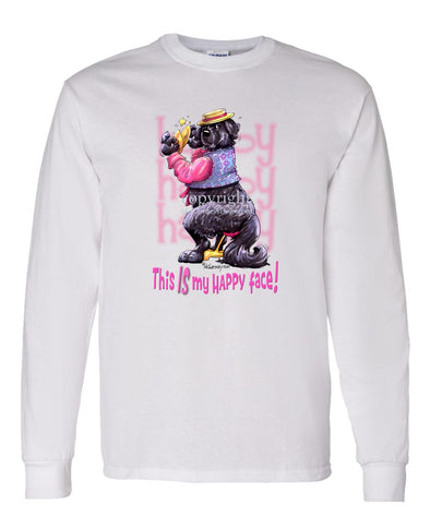 Newfoundland - Who's A Happy Dog - Long Sleeve T-Shirt