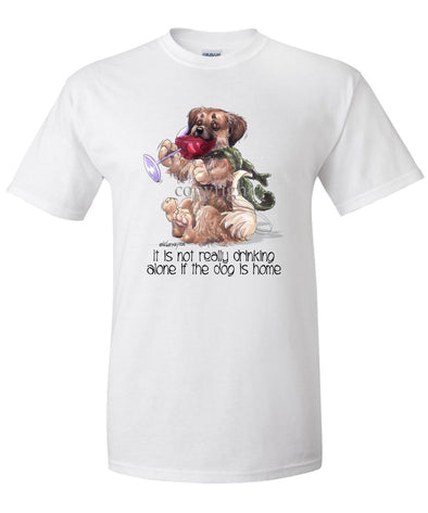 Tibetan Spaniel - It's Not Drinking Alone - T-Shirt