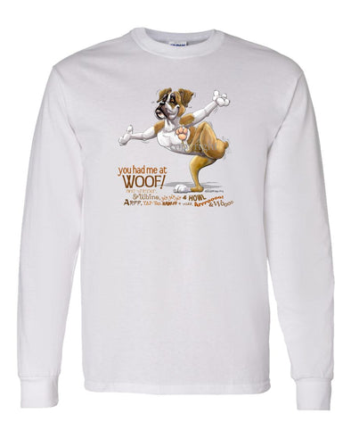 Boxer - You Had Me at Woof - Long Sleeve T-Shirt