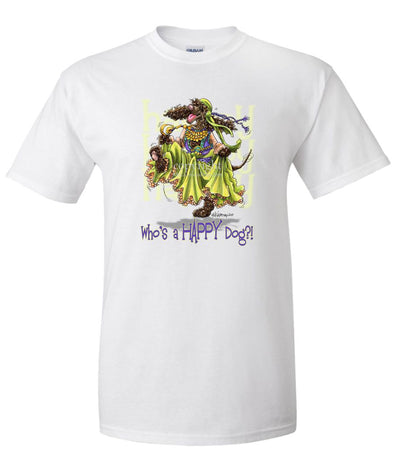 Irish Water Spaniel - Who's A Happy Dog - T-Shirt