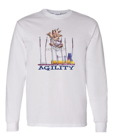 Silky Terrier - Agility Weave II - Long Sleeve T-Shirt