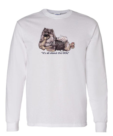 Keeshond - All About The Dog - Long Sleeve T-Shirt
