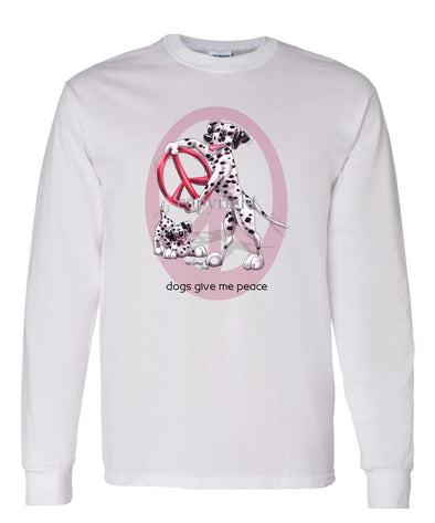 Dalmatian - Peace Dogs - Long Sleeve T-Shirt