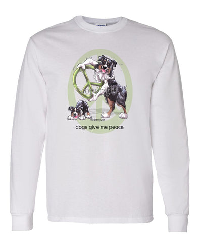 Australian Shepherd  Black Tri - Peace Dogs - Long Sleeve T-Shirt