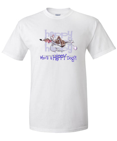 Whippet - Who's A Happy Dog - T-Shirt