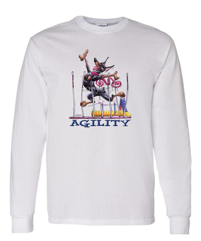 Doberman Pinscher - Agility Weave II - Long Sleeve T-Shirt