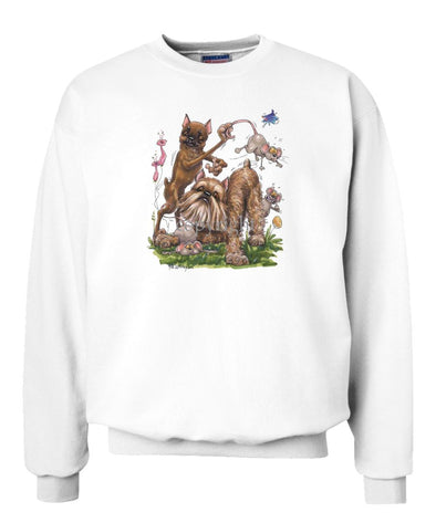 Brussels Griffon - Group With Mice - Caricature - Sweatshirt