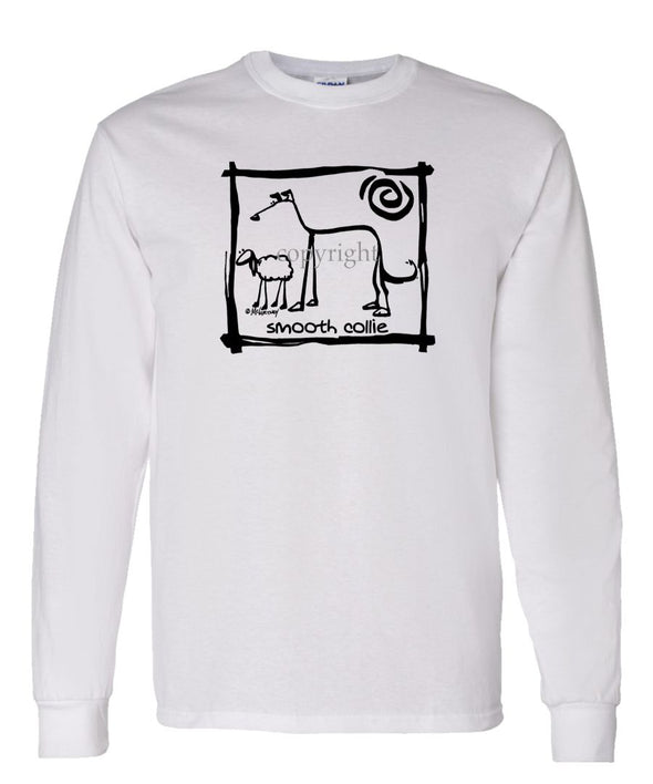 Collie  Smooth - Cavern Canine - Long Sleeve T-Shirt