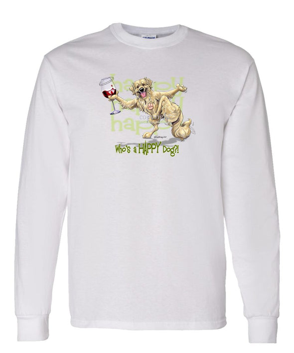 Golden Retriever - Who's A Happy Dog - Long Sleeve T-Shirt