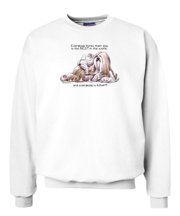 Lhasa Apso - Best Dog in the World - Sweatshirt
