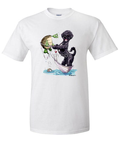 Portuguese Water Dog - Catching Turtle - Caricature - T-Shirt