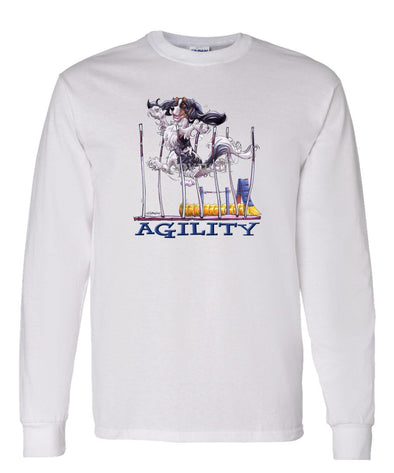 Cavalier King Charles  Black Tri - Agility Weave II - Long Sleeve T-Shirt