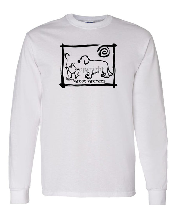 Great Pyrenees - Cavern Canine - Long Sleeve T-Shirt