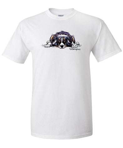 Australian Shepherd  Black Tri - Rug Dog - T-Shirt