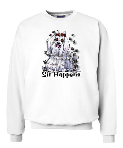 Maltese - Sit Happens - Sweatshirt