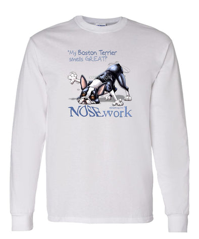 Boston Terrier - Nosework - Long Sleeve T-Shirt