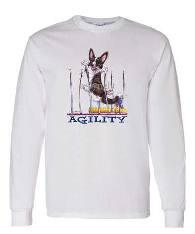 Welsh Corgi Cardigan - Agility Weave II - Long Sleeve T-Shirt