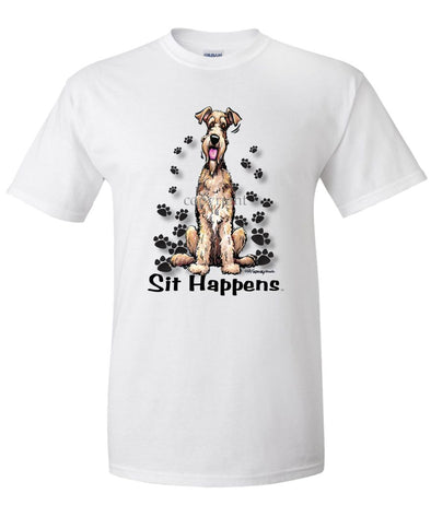 Airedale Terrier - Sit Happens - T-Shirt