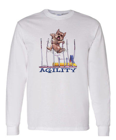 Norwich Terrier - Agility Weave II - Long Sleeve T-Shirt