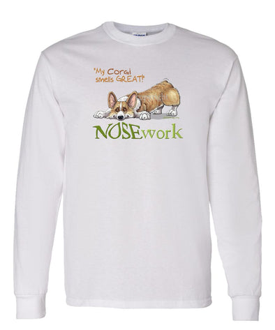 Welsh Corgi Pembroke - Nosework - Long Sleeve T-Shirt