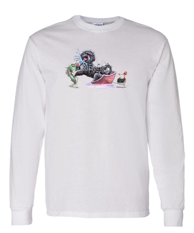 Portuguese Water Dog - Fish Squirting - Mike's Faves - Long Sleeve T-Shirt
