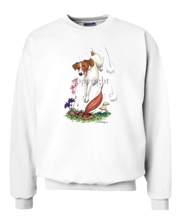 Jack Russell Terrier - Diving After Fox - Caricature - Sweatshirt