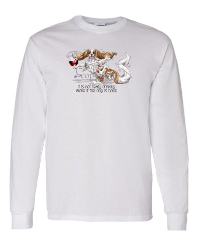 Cavalier King Charles - It's Drinking Alone 2 - Long Sleeve T-Shirt