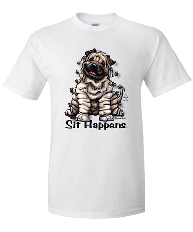 Shar Pei - Sit Happens - T-Shirt