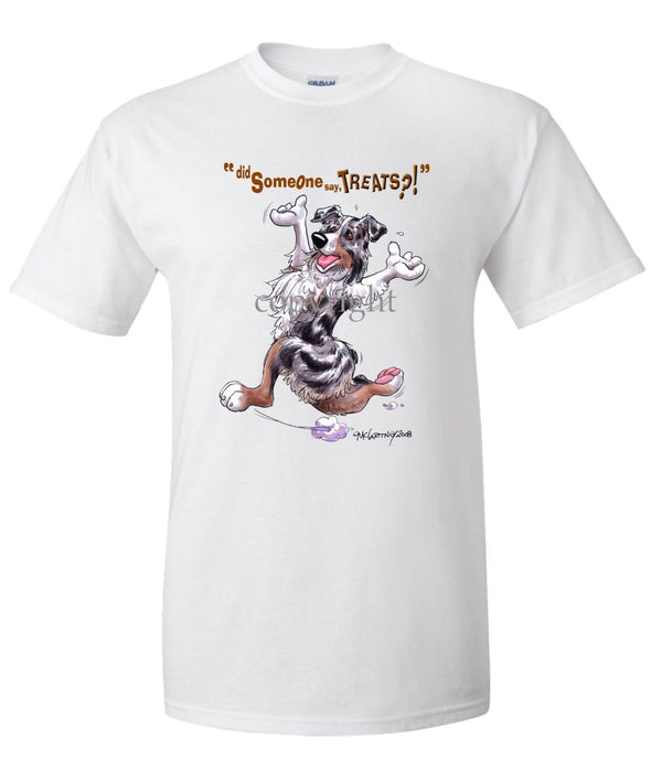 Australian Shepherd  Blue Merle - Treats - T-Shirt