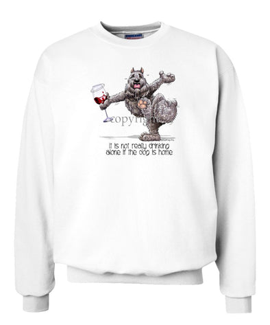 Bouvier Des Flandres - It's Drinking Alone 2 - Sweatshirt