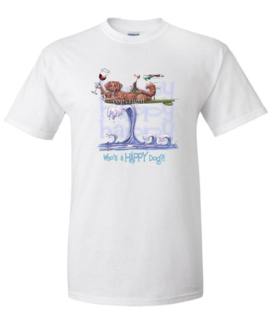 Nova Scotia Duck Tolling Retriever - Who's A Happy Dog - T-Shirt