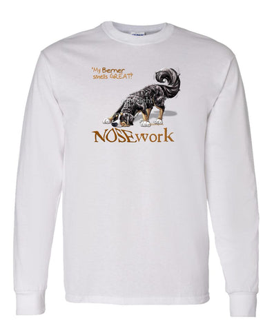 Bernese Mountain Dog - Nosework - Long Sleeve T-Shirt