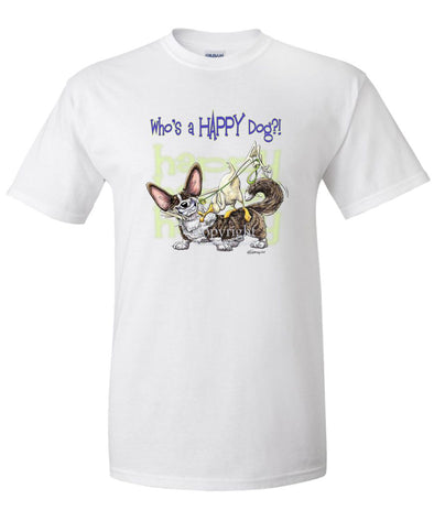 Welsh Corgi Cardigan - Who's A Happy Dog - T-Shirt