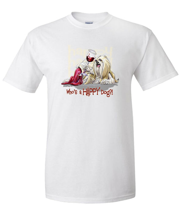 Lhasa Apso - Who's A Happy Dog - T-Shirt