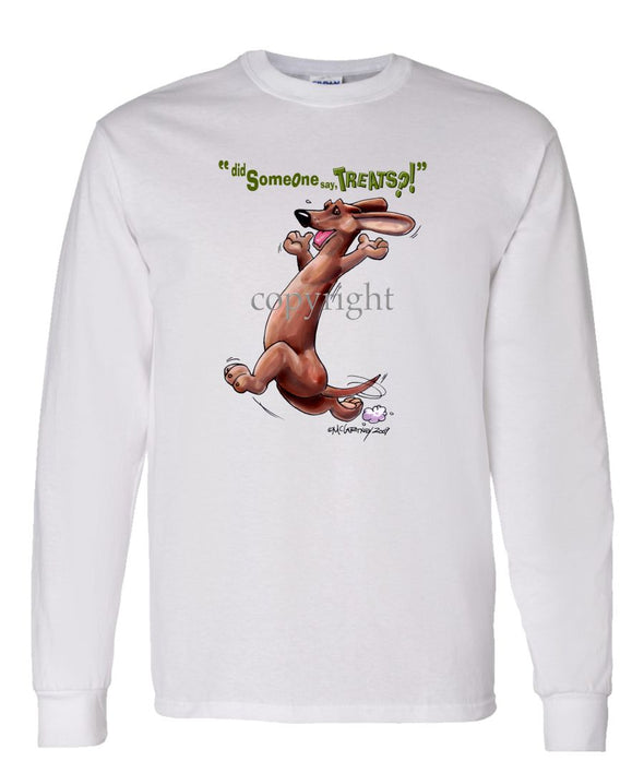 Dachshund  Smooth - Treats - Long Sleeve T-Shirt
