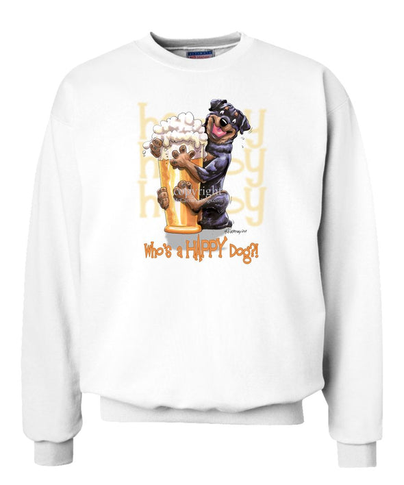 Rottweiler - Who's A Happy Dog - Sweatshirt