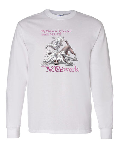 Chinese Crested - Nosework - Long Sleeve T-Shirt