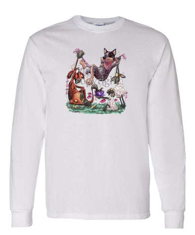 Australian Cattle Dog - Hammock - Caricature - Long Sleeve T-Shirt