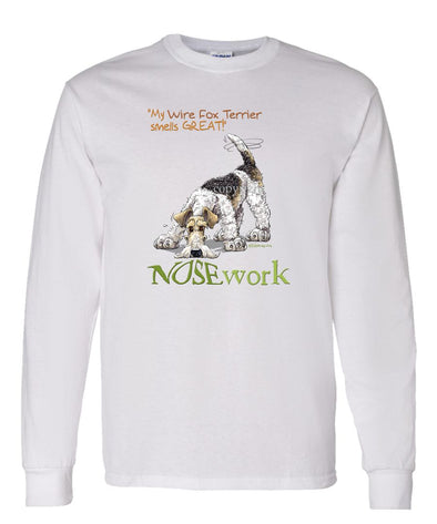 Wire Fox Terrier - Nosework - Long Sleeve T-Shirt