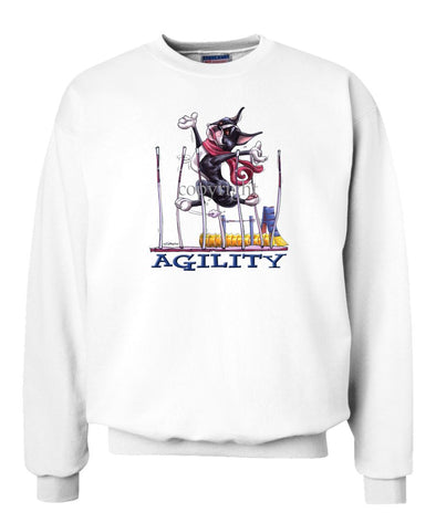 Boston Terrier - Agility Weave II - Sweatshirt