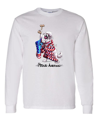 Great Pyrenees - Proud American - Long Sleeve T-Shirt