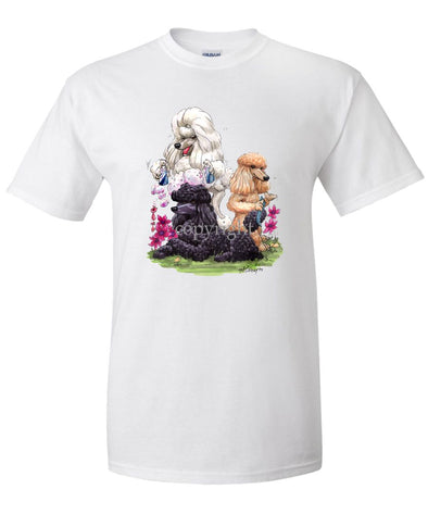 Poodle - Group Hair Spray - Caricature - T-Shirt