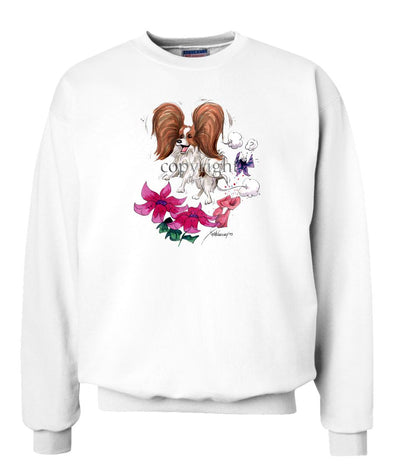 Papillon - Flying Over Flowers - Caricature - Sweatshirt